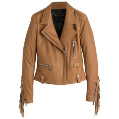 Barbara Bui Fringe Leather Jacket