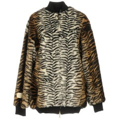 Stella McCartney Tiger-Print Faux-Fur Bomber Jacket