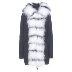 Mr & Mrs Italy Midi Fur-Trimmed Cotton Parka