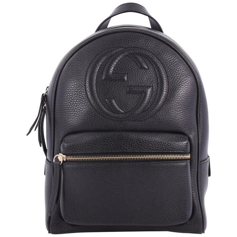 Gucci Soho Chain Backpack Leather bb1f4cc33e483