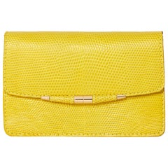 TYLER ELLIS Candy Small Yellow Lizard Gold Hardware