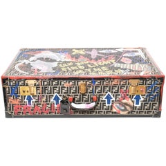 Hand Painted Fendi Suitcase
