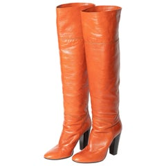Giuseppe Zanotti Over the Knee Boots in Cognac - Size 39