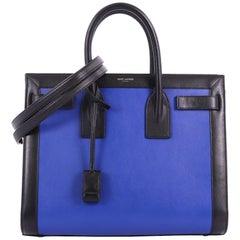 Saint Laurent Bicolor Sac de Jour Handbag Leather Small