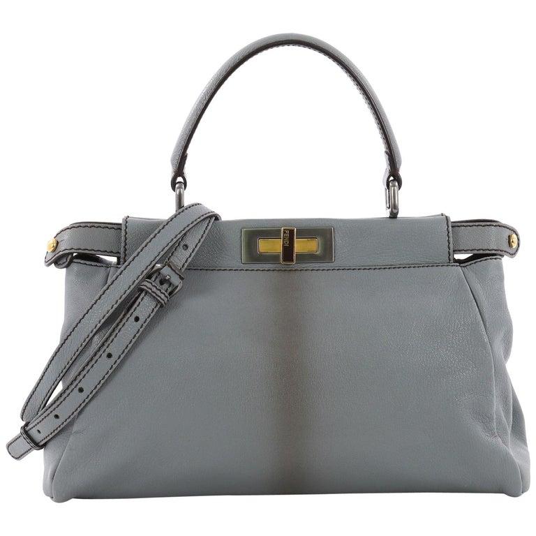Fendi Peekaboo Handbag Leather Regular