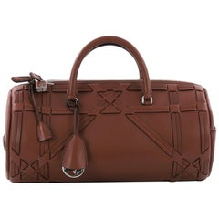 Christian Dior Connect Duffle Bag Giant Cannage Woven Leather