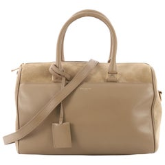 Saint Laurent Classic Duffle Bag Leather with Suede 12