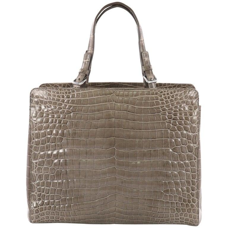 0199b38449 Bottega Veneta Belted Tote Crocodile Medium For Sale at 1stdibs