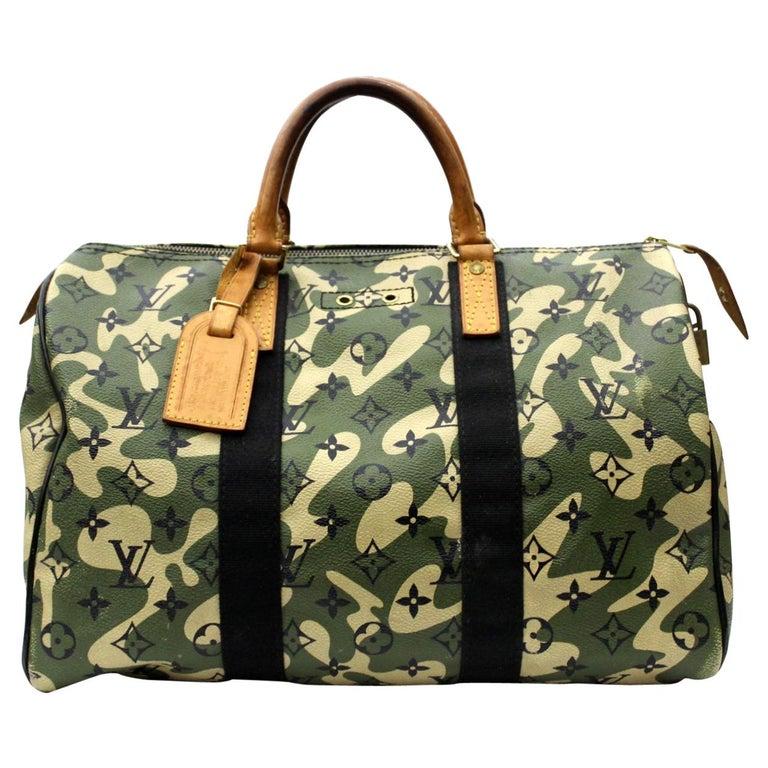 Louis Vuitton Limited Edition Monogramouflage Canvas Speedy 35 Bag