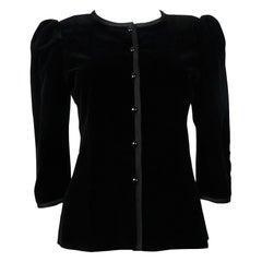 Yves Saint Laurent YSL Vintage Classic Black Velvet Jacket