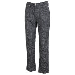Gianni Versace Jeans Couture Pants Spotted Lurex Vintage Black Gray, 1990s