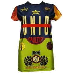 Jean Paul Gaultier Vintage Junior Iconic Color Block T-Shirt Size S