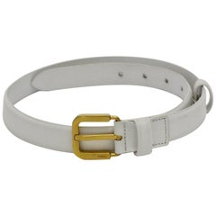 Jil Sander Vintage White Leather Belt Size 70
