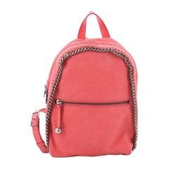 Stella McCartney Falabella Front Zip Backpack Shaggy Deer Mini