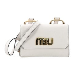 Miu Miu Logo Flap Crossbody Leather Small