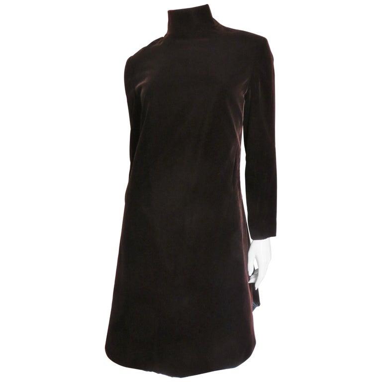 dccdcedc05b 1960s Pierre Cardin Velvet Dress For Sale at 1stdibs