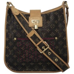 Louis Vuitton Limited Edition Monogram Perforated Musette in Fuchsia
