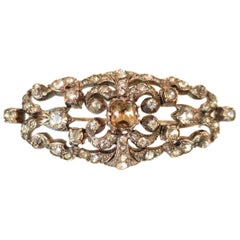 Edwardian Hand-Wrought Sterling & French Paste Brooch Circa 1905