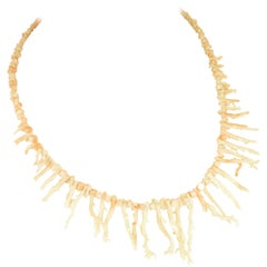 Angel Skin Coral Branch Necklace 1930s