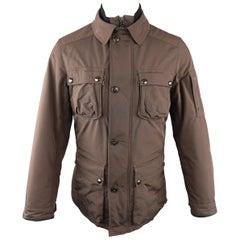 RALPH LAUREN S Brown Solid Polyester Jacket