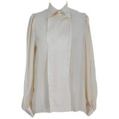 Pancaldi Shirt Silk Vintage Beige, 1990s