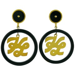 Karl Lagerfeld Vintage Massive Logo Hoop Earrings