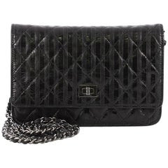 Chanel Rayures Reissue Wallet on Chain Quilted Calfskin