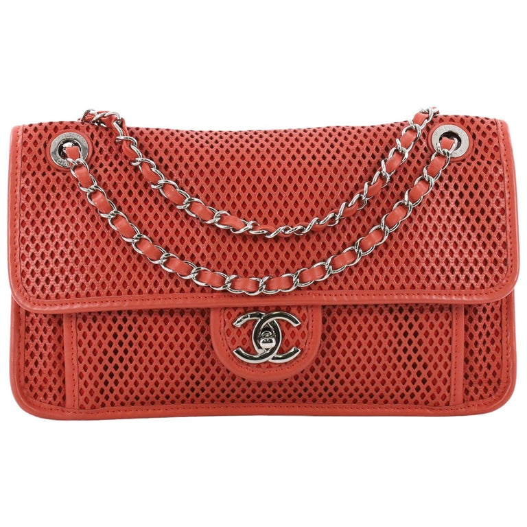 a824b2bdb85af0 Chanel Up In The Air Flap Bag Perforated Leather Medium at 1stdibs