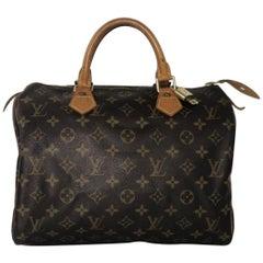 Louis Vuitton Monogram Speedy 30 Top Handle Handbag