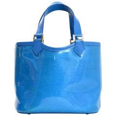 Louis Vuitton Blue Vinyl Epi Plage Leather Mini Lagoon Bay Bucket Drawstring Bag