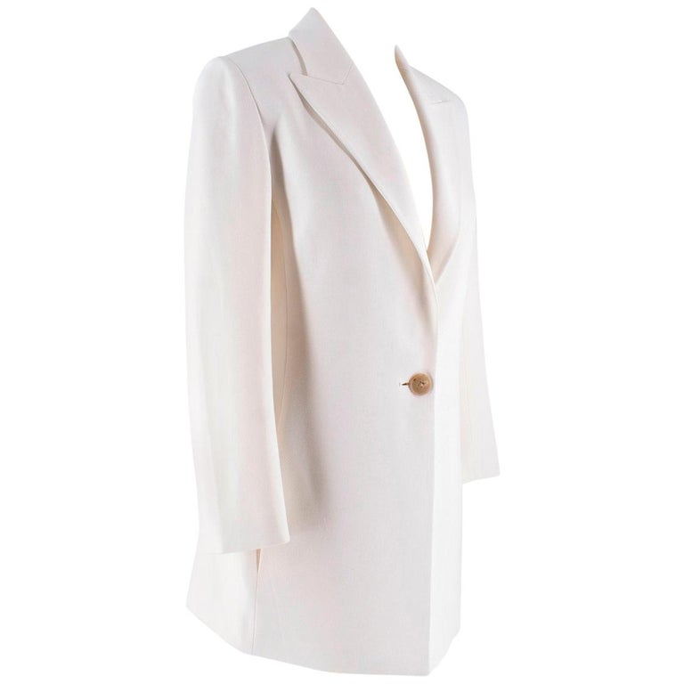 The Row Tailored Off White Suit US 6