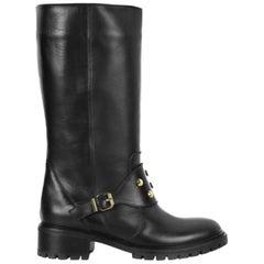 Fendi Spiked Leather Biker Boots