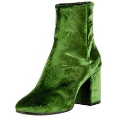 Balenciaga Ville Velvet Ankle Boots