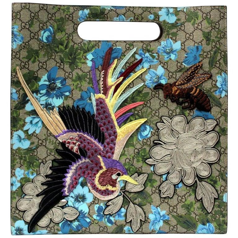 Gucci Linea C Blooms Print XL Tote For Sale