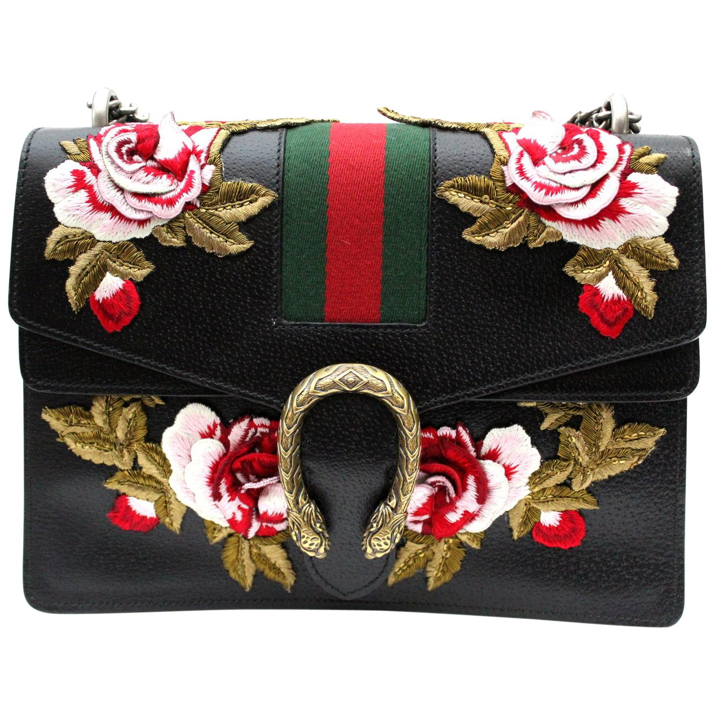 Gucci Dionysus New Medium Embroidered Roses Shoulder Bag