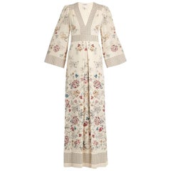 Vilshenko Amelie Floral And Square-Print Silk Gown