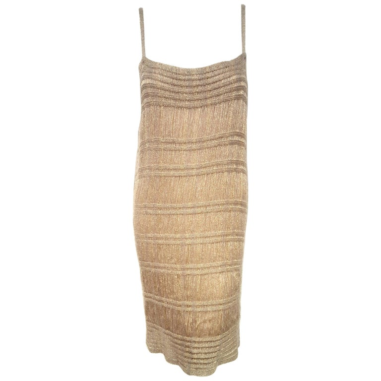 Missoni Gold Tone Thread 3 Piece Multi Layered Knit Ensemble  For Sale