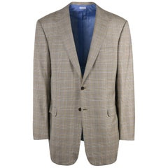 Brioni Men Brown Checkered Wool Textured Secolo Sportcoat E54 US44 R NWT$4550