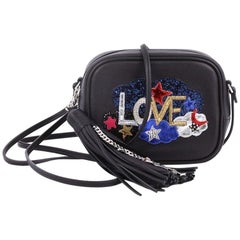 Saint Laurent Classic Monogram Blogger Crossbody Bag Patch Embellished Leather S