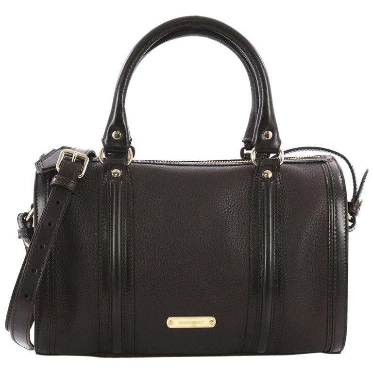 848317bb5f29 Burberry Alchester Convertible Satchel Leather Medium For Sale at 1stdibs