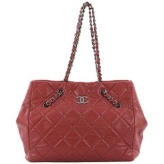 Chanel Cells Tote Quilted Caviar Large