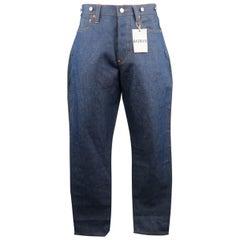 HAVERSACK Size M Blue Cotton / Linen Denim Button Fly Jeans