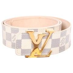 Louis Vuitton LV Damier Azur Canvas Belt - dark blue/off-white