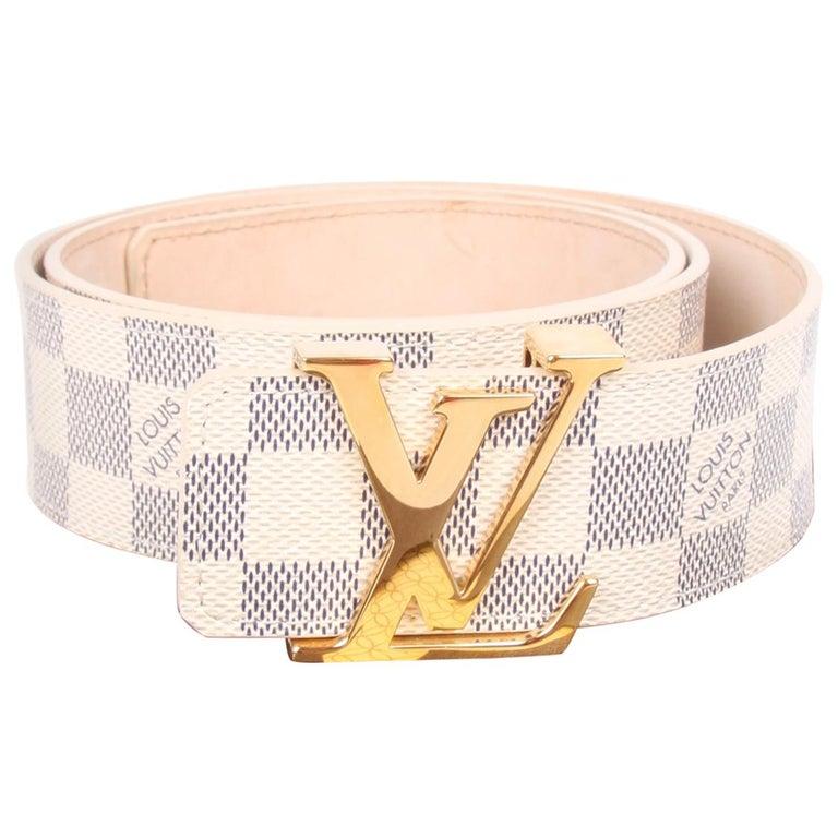 31101a340b0a Louis Vuitton LV Damier Azur Canvas Belt - dark blue off-white For Sale