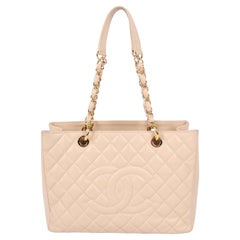 Chanel Grand Shopper Bag - beige caviar leather