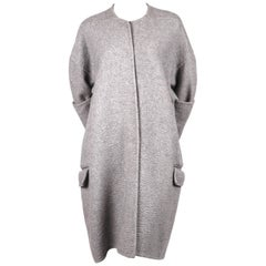 2013 CELINE by PHOEBE PHILO grey cashmere runway coat with exaggerated sleeves