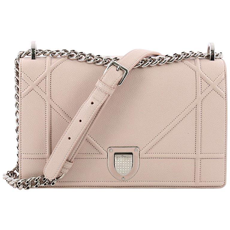 Christian Dior Diorama Flap Bag Grained Calfskin Medium at 1stdibs 4909da6cd0a2c