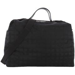 Chanel Travel Line Duffle Bag Nylon Large