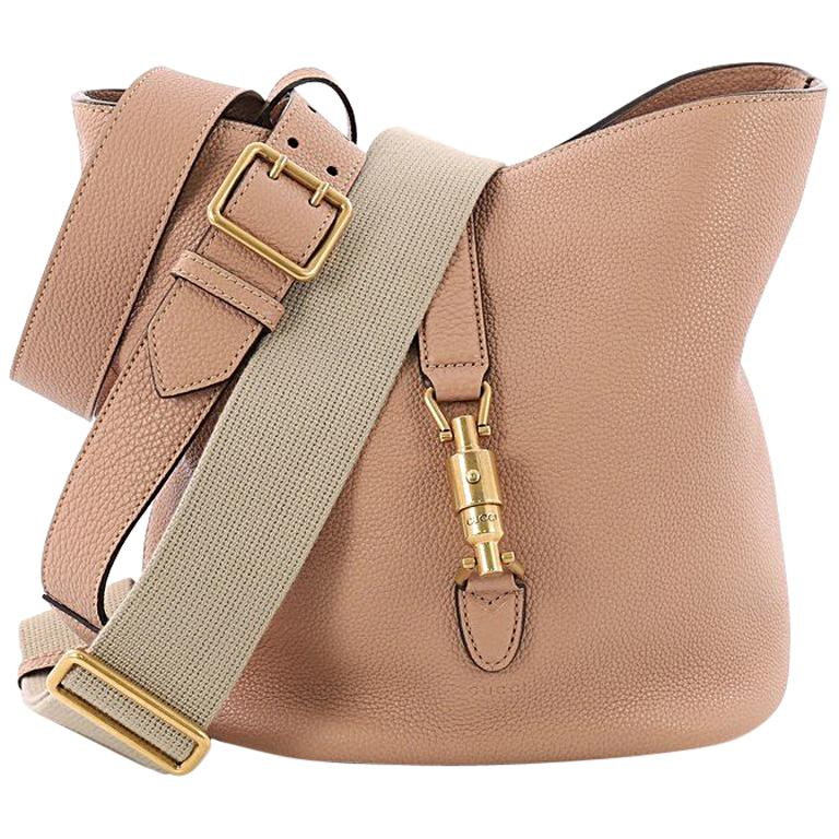 40c1a0cd657 Gucci Jackie Soft Bucket Bag Leather at 1stdibs