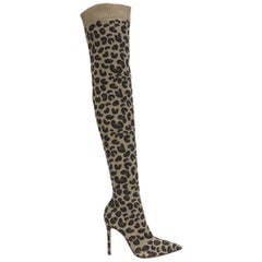 Gianvito Rossi Sauvage Leopard Over-The-Knee Boots